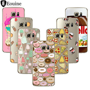 Pizza Cover For Coque iPhone 5 5S SE 6 6S 7 Plus Case For Samsung Galaxy S3 S5 S6 S7 Edge S8 Plus Grand Prime J3 J5 A3 A5 2016
