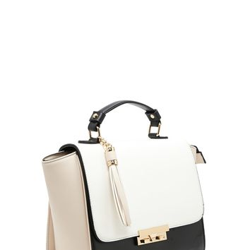 Colorblock Trapeze Satchel