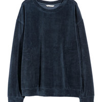 H&M Velour Sweatshirt $24.99
