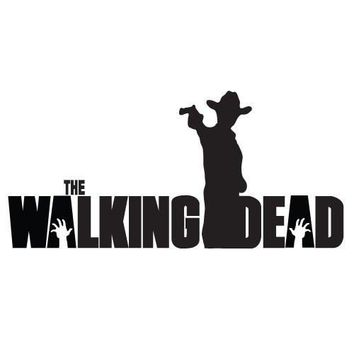 Rick Grimes Gun Hat The Walking Dead Logo Vinyl Sticker Decal For Car Windows Laptop