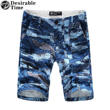 Fashion Men Casual Camouflage Shorts Multi-Color Summer Style Beach Bermuda Shorts for Men