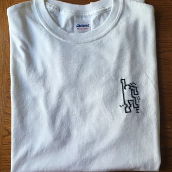 Embroidered Keith Haring Figure T-shirt