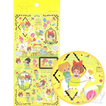 Snow White Princess Storybook Themed Stickers from Japan | Cute Fairy Tale Themed Scrapbook Decorating Supplies