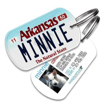 Arkansas License Plate Pet Tag