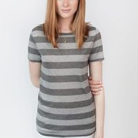 Basic Tee Grey Stripe