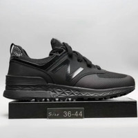 """""""New Balance"""" Fashion Casual All-match N Words Breathable Couple Sneakers Shoes Full Black G-A0-HXYDXPF"""