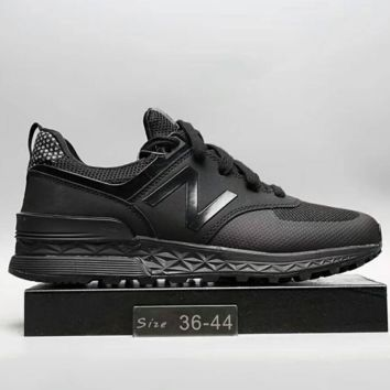 """New Balance"" Fashion Casual All-match N Words Breathable Couple Sneakers Shoes Full Black G-A0-HXYDXPF"