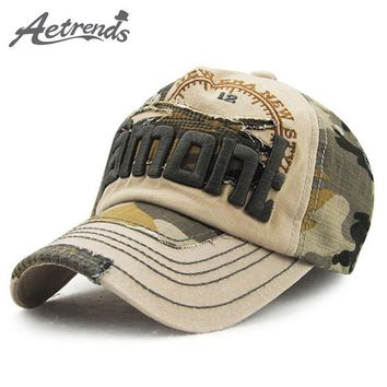 Trendy Winter Jacket [AETRENDS] Vintage Camouflage Baseball Cap 2017 Snapback Caps Hats for Men and Women Z-3123 AT_92_12