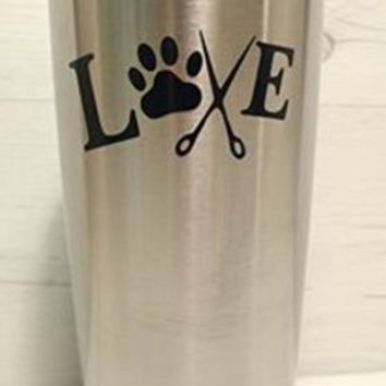 Paw Puppy Animal Lover Stylist Word Yeti Decal, Yeti Rambler Decal, Yeti Tumbler Decal, Ozark Tumbler Decal, Wall Vinyl Decal, Ozark Trail Decal, RTIC