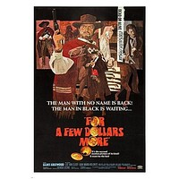 CLINT EASTWOOD for a few dollars more VINTAGE MOVIE POSTER western 24X36 HOT