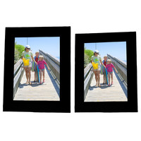 "Evelots Black Picture Frames, 7.5"" By 5.5"" & 6.5"" by 4.5"" Frame/Stands, Set of 6"