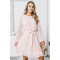 Forever Glowing Balloon Sleeve Dress