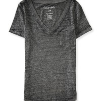 Burnout V-Neck Pocket Tee