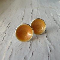 Supermarket: goldenrod dot earrings from k.o'brien jewelry