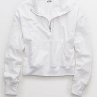 Aerie Quarter Zip Beach Fleece, White