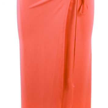 Wrap Skirt in Coral
