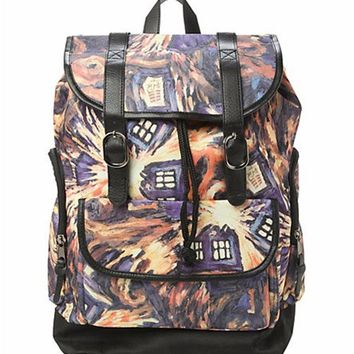 Doctor Dr Who Exploding Tardis Backpack Bag With Tag in stock