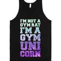 I'm Not A Gym Rat I'm a Gym Unicorn-Unisex Black Tank