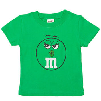 M&M's Candy Character Face T-Shirt - Toddler - Green - 2T