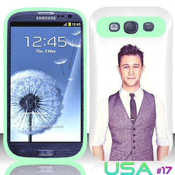 USA Design #17 - Samsung Galaxy S3 Glow in Dark Case # joseph gordon-levitt @ Cover for Galaxy S3 i9300 case
