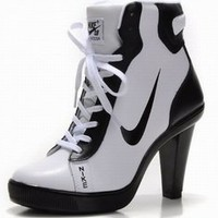 nike dunk middle heels boots white and black shop