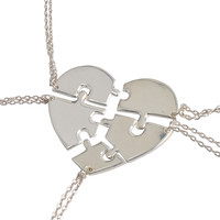 Five Puzzles Best Friend Necklace