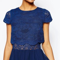 ASOS Crop Top Lace Mini Dress