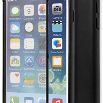 "iPhone 6, 4.7"" Durable Black TPU Wrap Up Case with Built In Screen Protector"
