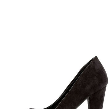 Kiiara Black Suede Pointed Pumps
