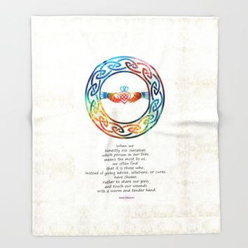 Love And Friendship Art by Sharon Cummings Throw Blanket by Sharon Cummings | Society6