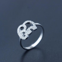Super cute elephant zircon 925 sterling sivler ring  + Nice gift box !