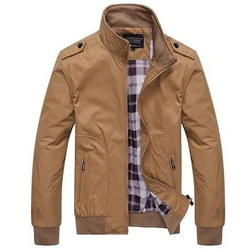 Mens Jackets Casual Coats Stand Collar Male Bomber Jackets