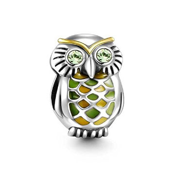 Soufeel Swarovski Crystal The Jungle Owl Charm 925 Sterling Silver