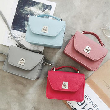 Women'S Fashion Solid Color Shoulder Bag Satchel