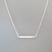 Simple, bar, necklace, goldfilled/ sterling silver, bar, jewelry, rectangle, bar, slim, chic, bar, dainty, minimalist's, jewelry