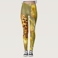 Yellow Butterfly Leggings with Personalized Name