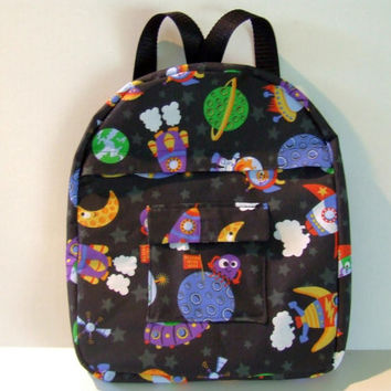 Space ships and Aliens Backpack for Toddlers