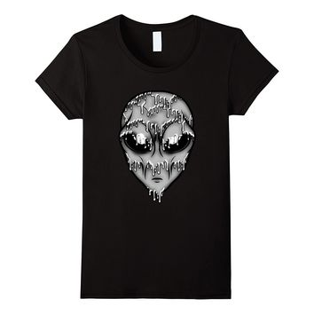 Gray Trippy Alien T-Shirt