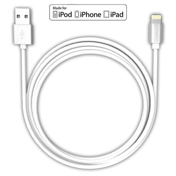 Heavy Duty Metal Braided Lightning USB Charger Cable 1M For iPhone X 8 7 6 5 Wht