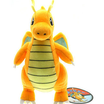 "Pokemon Dragonite 9"" Stuffed Animal Nintendo Cartoon Plush Toy cute Dragon Kawaii Kids Stuffed Toys For Children Dolls"