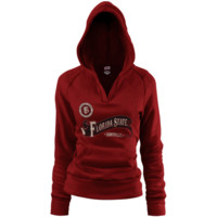 Florida State Seminoles Women's Rugby Distressed Deep V-Neck Pullover Hoodie – Garnet