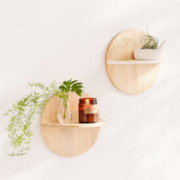Calista Circle Wooden Shelf - Urban Outfitters