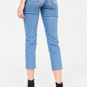 BDG Axyl Mid-Rise Straight-Leg Jean - Blue - Urban Outfitters