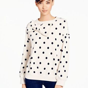 deco dot bow sweatshirt