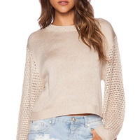 MINKPINK Ghost Ship Sweater in Taupe