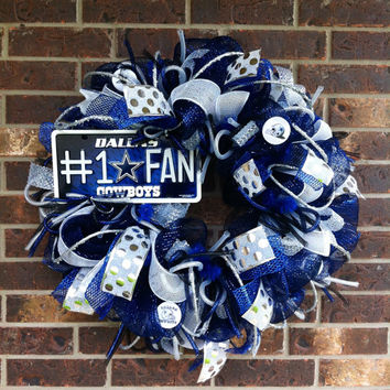 Dallas COWBOYS Deco Mesh Wreath