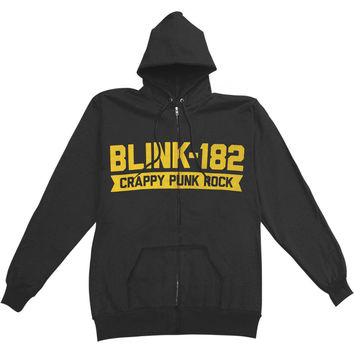 Blink 182 Men's  Barb Zippered Hooded Sweatshirt Black