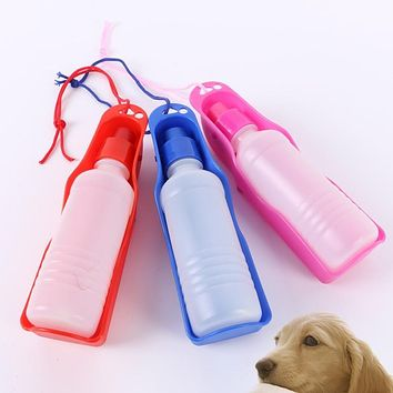 Useful Portable Pet Travel Water Bowl Bottle Dispenser Feeder Cat Drinking Fountain