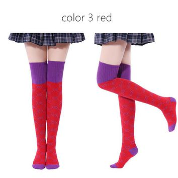 fashion women Over The Knee Socks dancewear Thigh High Adults Stretchy OTK Socks