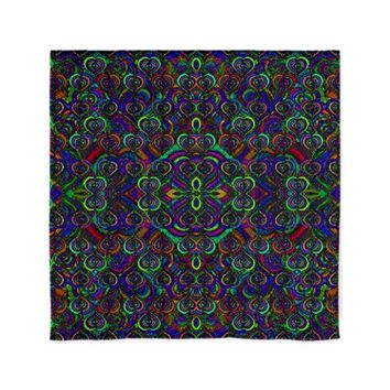 "Sweet psychedelic hearts 60"" Curtains"